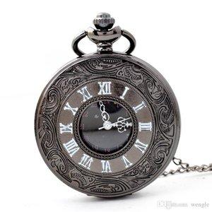 wengle Yeni Heykel Ülke tarzı Vintage Roman cep saati Unisex Aksesuarları Roman rakamıyla vaka Kuvars saatler