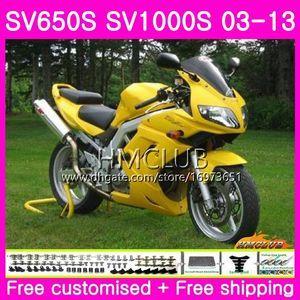 Body For SUZUKI SV1000S SV650S 03 04 05 06 07 08 20HM.18 SV650 1000 S SV 650S 1000S 09 10 11 12 13 2003 2004 2005 2013 Fairing Stock yellow
