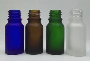 10ml 유리 dropper 병 무광 검은 색 / 녹색 / 청색 / 호박색 / 황색의 은백색 향수 유리 향수 에센셜 오일 e 액체 병