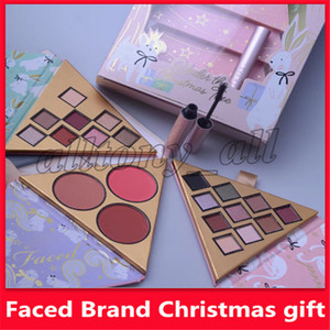 2019 Makeup Christmas set gift Under the Christmas Tree contains Two eyeshadow set and One blush set with better than sex mascara