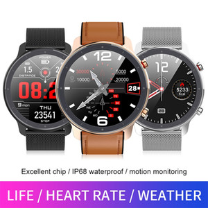 Pressão L11 relógio inteligente Homens ECG + PPG Heart Rate Monitor de Sangue IP68 impermeável Tempo de Metal Smartwatch VS DT78 L5 L8 L7