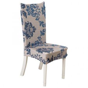 Bezüge für Stühle Polyester Print Elastic Chair Cover Abnehmbare Schutzüberzüge für Weihnachtsdekoration im Hotel Wedding