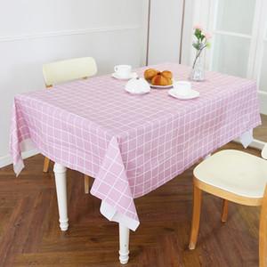 البلاستيك مفرش المائدة طباعة اللون الوردي زفاف حفلة عيد الميلاد الجدول غطاء مستطيل مكتب القماش مسح يغطي ماء الجدول القماش