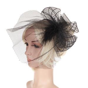 Горячий стиль cambric банкетная марля шляпа свадебный головной убор головной убор перо заколка для волос европейские и американские партии головные уборы аксессуары для волос