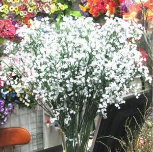 Gypsophila Artificial Falso Silk Flower Artificial Baby respiração plantar flores Wedding Party Home Decoração 4 cores LXL1020-1