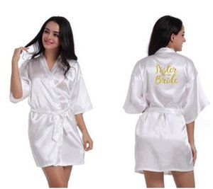 Женские спящие одежды Персонализированные одежды Сестра невесты Bridal Party Groom Золотые буквы Свадебный подарок Плюс размер одежды