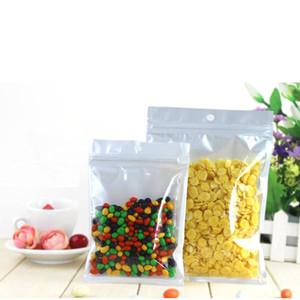 perle sac en plastique Poly OPP clair + emballage blanc fermeture éclair serrure Zip vendues au détail alimentaire bijoux sac en plastique PVC
