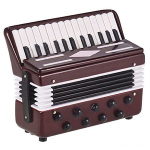 Mini Akkordeon Modell Exquisite Desktop-Musik-Instrument-Dekoration Ornamente Musik-Geschenk mit Speicher-Fall-Drop O23 Orgel Keyboards