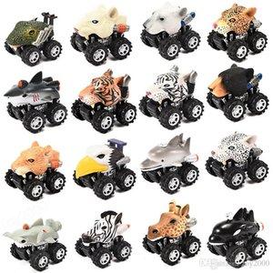 Cabeça de animal Forma Mini Modelo de Carro Puxar Para Trás Do Veículo de Brinquedo Do Veículo Em Forma de Animais de Plástico Em Forma de Ve ...