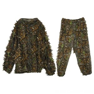 3D Leaf Adults Hunting Wear Athletic & Outdoor Apparel Ghillie Suit Woodland Camo Camouflage Hunting Deer Stalking in