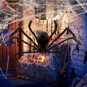 Decorazioni di Halloween Big Black Spider decorazione di Halloween Haunted House Prop Interni Esterni Nero Gigante 3 Dimensioni 30cm / 50cm / 70 centimetri