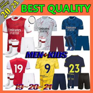 Men + Kids kit 19 20 aRSeN HOME soccer jersey 20 21 away 3rd HENRY GUENDOUZI football shirt