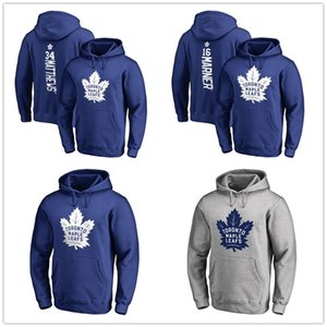 34 Auston Matthews 16 Mitchell Marner Toronto Maple Leafs Backer Nome e número do pulôver Hockey Mens Designer Hoodies impresso Logos