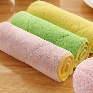 Kitchen accessories handkerchief Mixed Color Microfiber Car Cleaning Towel Multipurpose Kitchen Washing Polishing Cloth Rags B1