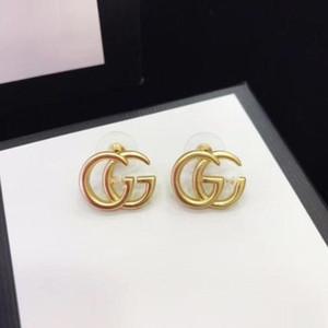 Lettre Vintage Designer Boucles d'oreilles de luxe 925 aiguille d'argent Charm Eardrop boucles d'oreilles pour les femmes Lady Bijoux