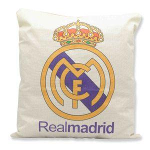 Gerçek Madrid Futbol Takımı Desen Baskı Ev Mobilya Araba Yastık Yastık Seti Bayrak Futbol 40 * 40 Pamuk Keten