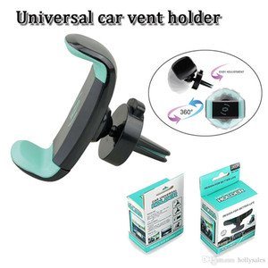 360도 회전 자동차 배출 홀더 조정 universale nimi 공기는 3.5 인치 6 인치 스마트 휴대 전화 GPS PSP를위한 스탠드에 맞는 마운트 VENT
