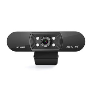 ASHU Webcam 1080P Câmera USB 2.0 Web Digital com microfone Clip-on Full HD 1920x1080P 2.0 Megapixel CMOS Camera Web Cam