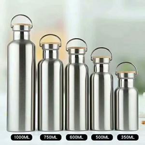 Topstech Bottiglia d'acqua 25oz 34oz isolato sottovuoto 18/8 in acciaio inox boccale da viaggio boccale largo bocca sport con 3 coperchi opzionali spedizione gratuita
