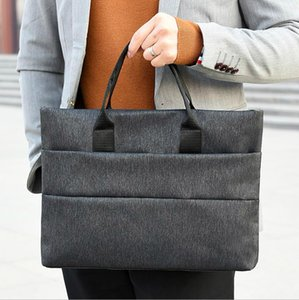 Briefcases Men Business Briefcase Man Casual Shoulder Messenger Bag Men's Handbag Cross Section Laptop Bag In Stock