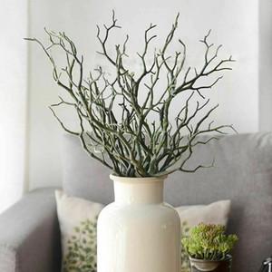 1pc 35cm Rami di corallo di pavone Fogliame artificiale artificiale Pianta albero Decorazione di nozze Piante secche di plastica