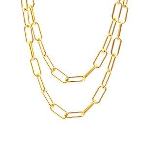 Longo O Sell cadeia colar o link do Único Homens Oval aço inoxidável em metros sem fecho de prata / cor de ouro jóia masculina