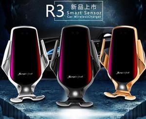Оригинальный R3 10Вт Ци беспроводной зарядное устройство Автомобильный держатель крепление для iPhone Huawei Samsung быстрое зарядное устройство автоматического зажима держателя автомобиля для спуска воздуха