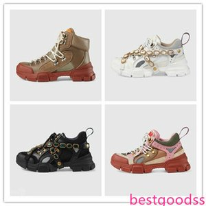 best quality Fashion brand men women shoe designer sneakers casual shoes Flashtrek ace shoes with crystal Canvas shoes Genuine Leather desig