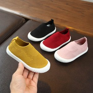 Kids Sneakers Running Children Shoes Boys Sport Shoes Girls Breathable Knit Socks Sneakers Outdoors Soft Casual Shoe 2020