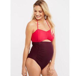 플러스 사이즈 출산 수영복 여성 비키니 임신 여성 패션 패치 워크 수영복 여성 비치웨어에 대한 원피스 수영복 섹시한 슬링