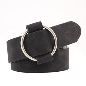 New Womens belt Fashion designer Round casual ladies belts for jeans Modeling belts without buckles leather belt