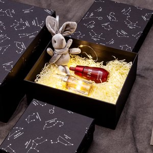 Fashion Rectangle Starry Print Gift Wrap High Quality Present Box Package Modern Gift Boxs Free Shipping