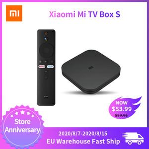 Global Versión Xiaomi Mi caja de la TV S Android 9.0 2 GB de RAM de 8 GB ROM Smart TV Set Top Box 4K QuadCore HDMI WiFi Mali 450 1000Mbp jugador