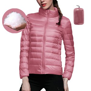 Sfit 2020 Women Autumn Winter Casual Ultra Light White Duck Down Jacket Warm Coat Lady Plus Size Jackets Female Hooded Parka New