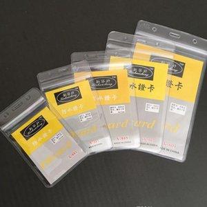 7.8*5.8 cm ПВХ водонепроницаемый мягкий разрешение на работу автобус карты мягкая прозрачность сотрудник карты значки держатель ID карты чехол держатель с DHL доставка