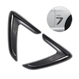 1 쌍의 ABS 탄소 섬유 스타일 자동차 사이드 에어 트림 공기 환기 사이드 펜더 BMW 3 시리즈 F30 커버에 대한 표지