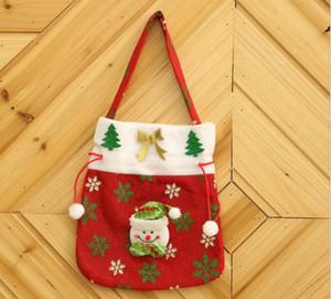 Hot Accueil fête Père Noël Sac d'Apple Candy Bag Nouvel An 2020 Ornements pour le sac d'arbre de Noël d'hiver de Noël bonhomme de neige Décoration