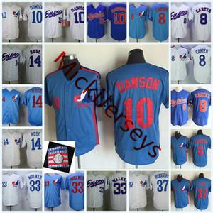 Montreal Expos Pete Rose Jerseys 8 Gary Carter # 10 ANDRE #DAWSON 33 LARRY WALKER # 37 Bill Lee Montreal Expos Jersey S-3XL