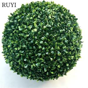 Artificiale Milan Grass Ball Simulazione Green Plant Ball 8 dimensioni fiori finti per la casa di nozze Vetrina Decorazione dell'ufficio dell'hotel