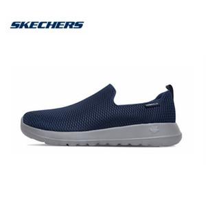 Skechers обувь для мужчин Повседневный Go Walk Max Комфортные дышащая обувь Повседневная обувь Мягкие мокасины Мужские Мокасины 54600-BKW T200111