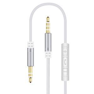 Áudio fio 3,5 milímetros Volume Pública Controle Headphone fio com áudio fio AUX em itens quentes veículos