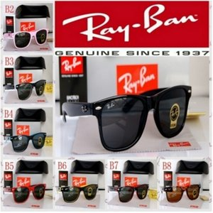 Hot Sale 2140wayfarerRayban Sunglassess Vintage-Pilot Marke Sun-Glas-Band polarisierte UV400 Bans Männer Frauen Sonnenbrille mit Kasten