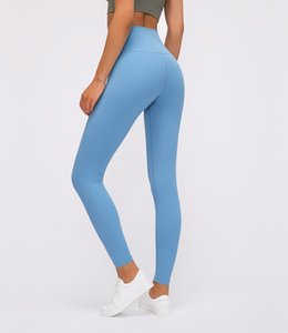 LU-33 Align mit hoher Taille Leggings Yoga Pants Marke Enge Gym Gamaschen 2020 Leichtgewichtler Nicht Seethrough Helle Solid Color Fitness Lady Overal