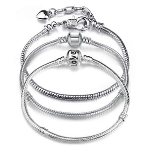 Unicon High Quality Silver Color Snake Chain Fine Bracelet Fit European Charm Bracelet for Women DIY Jewelry Making