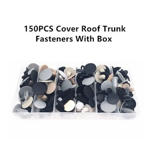 150PCS Univerious Car Cover Roof Creep Hookhood Plastic Fastener Clips With Box Set For All Auto Rivet