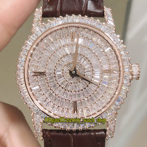 DM Top-Version Traditionnelle Schmuck Serie 82760 / 000G-9952 Diamanten Zifferblatt Miyota 9015 Automatik Herren-Uhr-Diamant-Kasten Designer-Uhren