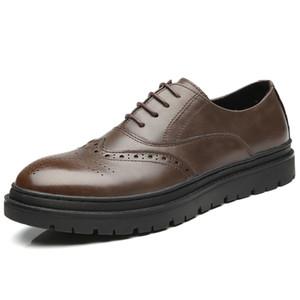 الرجال الثور أحذية الرجال والاحذية البني الأسود أشار تو أحذية العمل رجل الأعمال دعوى الأحذية مكتب عارضة الشقق للرجل zy219