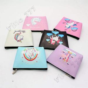 Muchacha de los niños de la cremallera del unicornio monedero de dibujos animados dinero de la carpeta bolso de la moneda multifunción lápiz casos en animales de Kawaii caso del maquillaje