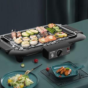 Ev ev için 2000W Elektrikli Barbekü Izgara PanBarbecue Makinesi Pişirme Pan Dumansız Teppanyaki Elektrik Griddles 220V