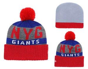 Novo estilo de inverno de Nova York chapéus de malha Giants Equipe Logo Gorros bonés hip hop cap esportes ao ar livre cap vêm com adesivos de alta qualidade